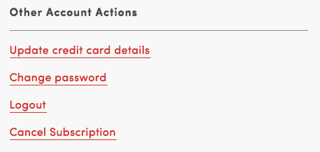 Other Account Actions